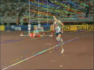High Jump with action trajectories
