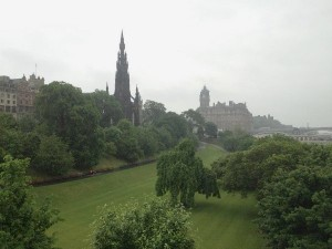 View of Edinburgh, Scotland.