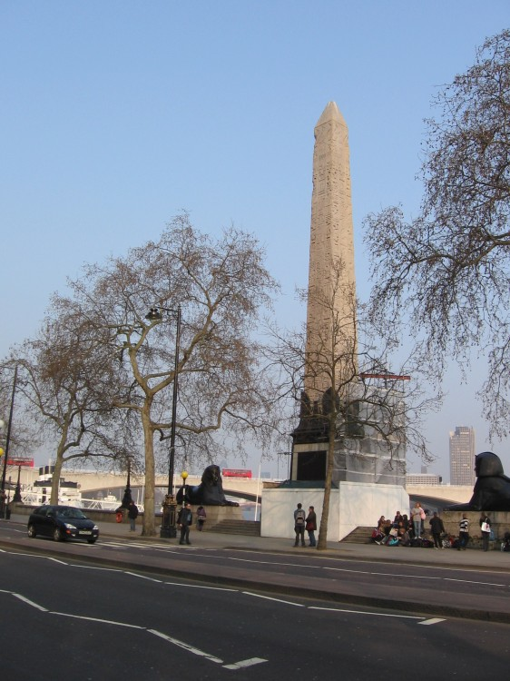 Obelisk along the River Thames