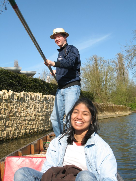 Mike Punting while Heena Smiles