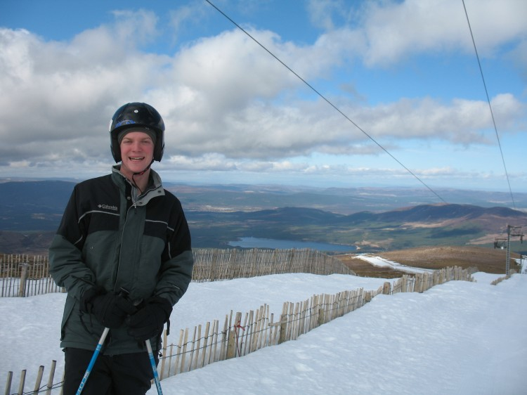 Mike Skiing at Cairngorm