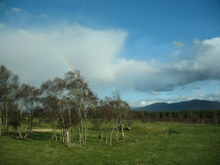 Rainbow near Cairngorm National Park