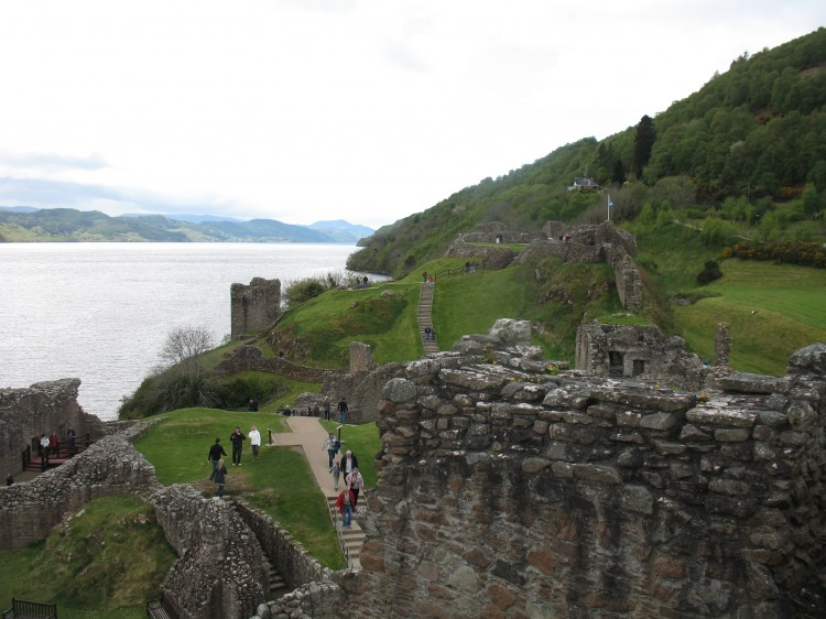 Urquhart Castle Towers over Loch Ness