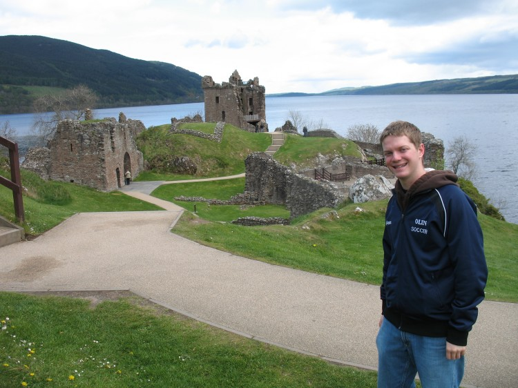 Mike at Urquhart Castle